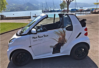 Unser Miet-Cabriolet am Thunersee